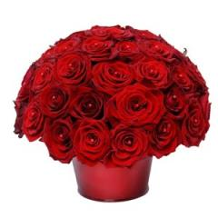 Luxury bouquet red Roses