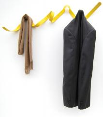 Ribbon Coat Rack Yellow by Headsprung