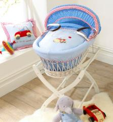 Humphrey's Little Red Car White Wicker Moses