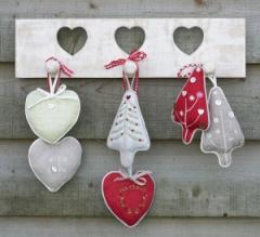 Handmade Vintage Wooden Heart hooks
