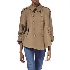 Poncho trench jacket