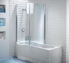 90 curved shower screens bath p shaped shower bath pack