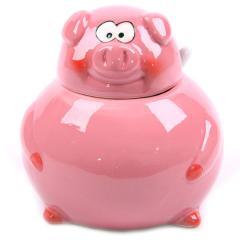Pink Piggy Sugar Pot