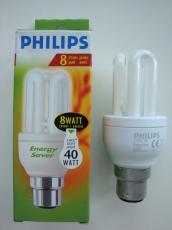3 x Philips 8w(40) Energy Saving Bulb