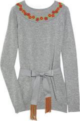 Embellished wool-blend sweater