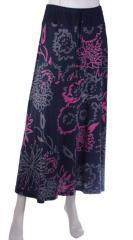 Bold Flower Print Organic Jersey Skirt