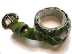 Hand Made Braided Belt (Green)