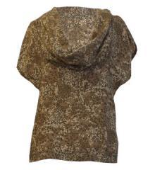 Greta Cowl Neck Top (Brown Floral)