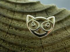 9ct Small Snowdon Cat Pin
