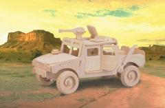 Jeep woodcraft 3D wooden model construction kit
