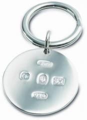 Hallmarked Silver Key Ring