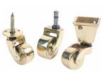 Brass castors