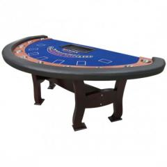 Blackjack Table #6 - Classic H Leg Design – Blue