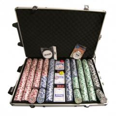 Tournament Pro 1000pc Numbered Poker Chip Set –