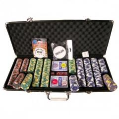 500pc 14gram Numbered Crown Clay Poker Chipset –