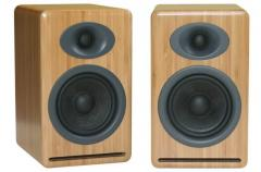 Premium Passive Bookshelf Speakers BAMBOO