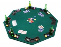Fold up poker table top