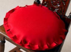 Round Cushion - Red Wool Felt