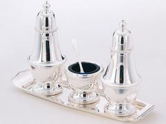 3-piece condiment set on a tray