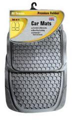 Premium Rubber Car Mats - Grey
