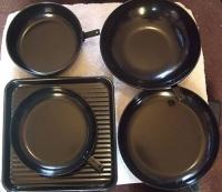 Movitex 5 Piece Pan Set in black