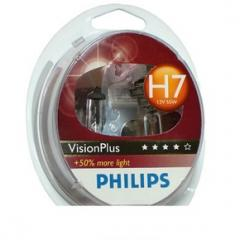 H7 Vision Plus Bulbs *50% Brighter* TWIN PACK