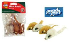 Catnip Mice Pack Kitten Toy