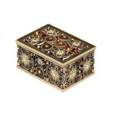 Hand Painted Oblong Trinket Box by Eden Beech