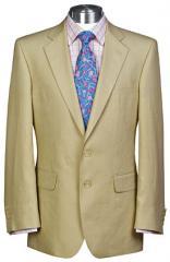 Linen Suit Jacket - Stone