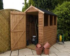 6' x 4' Sheriff Overlap Apex Garden Shed