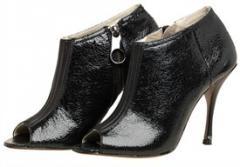 Women's rylee peep toe ankle boot in black