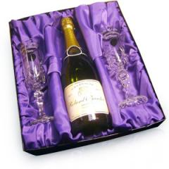Personalised Crystal Champagne Flutes and