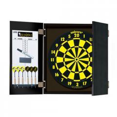 Unicorn Dartboard cabinet and dartboard