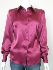 Ladies rose satin blouses