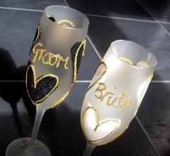 Personalised Wedding Champagne Flutes for the