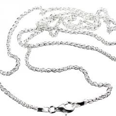 20 inch Fine Silver Wheat Chain