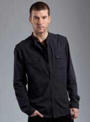 Black/White Stripe Double Layer Shirt