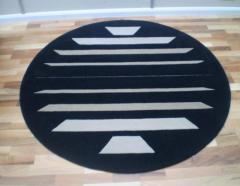 Rear Window round wool rug
