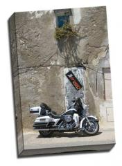 Harley in Peniscola, by Jim Livesey