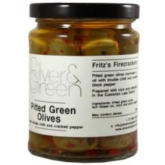 Pitted Green Olives with Double Chilli