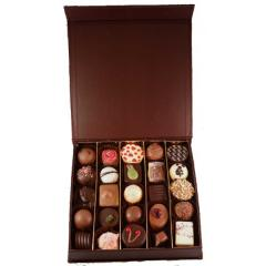 Brown Book Style Box 16 Chocolates -