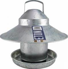 2.2kg outdoor galvanised chicken feeder