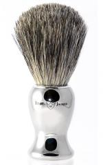 Edwin Jagger Nickel Plated Pure Badger Hair