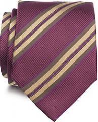 7 Fold Woven, Handmade Luxury Silk Ties - Gold and
