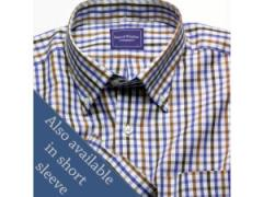 Samuel Windsor Blue Brown Check Casual Shirt