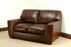 Eaton Aniline Leather 2 Seater Sofa Brown