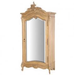 Villeneuve Oak Mirrored Armoire