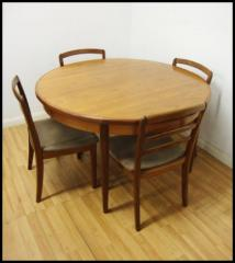 Retro G Plan Table and Four Chairs