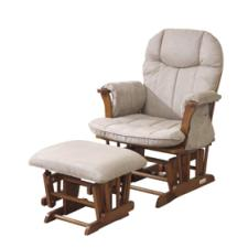 Kub Arden Glider Chair And Stool - Honey