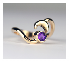 Sun & Moon Toe Ring with Amethyst